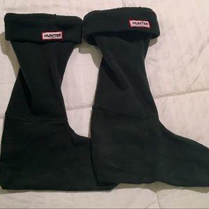 Hunter Boot Original Tall Boot Fleece sock Olive M